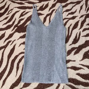Shimmery silver top F21